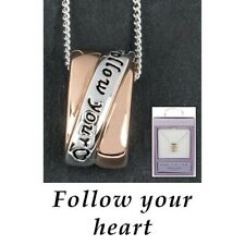 jewellery gift present sentiment boxed equilibrium follow your dreams necklace