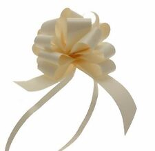 Ribbon Pull Bows 30 x31mm width IVORY CREAM  palm size pompom bows gifts decor