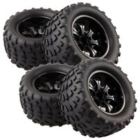4pcs RC Rubber Sponge Tires Tyre Wheel Rim HSP 1:10 Monster Bigfoot Truck 88035