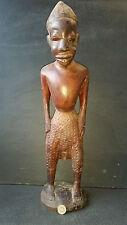 ANCIENNE GRANDE STATUE SCULPTURE STATUETTE HOMME H 56 BOIS COTE D IVOIRE SENEGAL