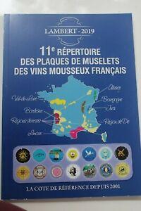 LIVRE REPERTOIRE PLAQUES DE MUSELETS MOUSSEUX FRANCAIS 11ème REPERTOIRE 2019