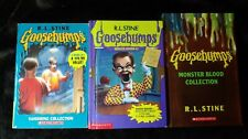 Lot Of 3 R. L. Stine Goosebumps Collection Monster Edition #2 Blood Vanish Books