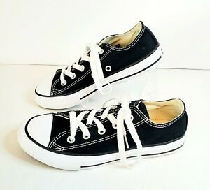 Converse All Star Chuck Taylor Youth Kids 13.5 Canvas Shoes Low Top Black 3J235