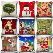 Weihnachten Xmas Schneemann Kissenhülle Kissenbezug Dekokissen Sofakissen  Kisse
