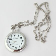 10pcs Larger Face Necklace Pendant Metal Watch Chain Jewelry Dress Watches GL54T