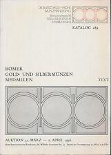 HN Dr. BUSSO PEUS Auktion 289 april 1976 Frankfurt Romer Gold und Silbermunzen