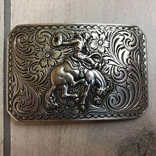 Nocona Belt Buckle Cowboy Rodeo Bucking Bronco