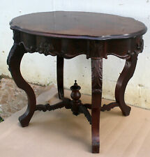Antique Vintage Old Carved Walnut Wood Wooden Side End Accent Foyer Sofa Table