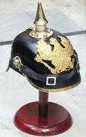 Deutsche Preußische Leder Pickelhaube Helm WWI Imperial OFFICER'S Fr + Ständer