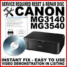 Canon Pixma MG3140 3540 - Service Tool & Fault Reset Disc : Service Repair Fix
