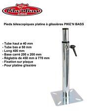 PIKE'N BASS 240250 - Pied téléscopique à glissière Siège Bateau - Acier *NEUF*