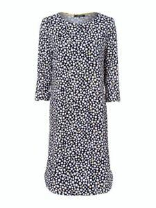 Olsen Dress Size 16 BNWT Navy White & Lemon Spot RRP £99 Now £44