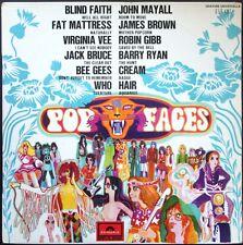 POP FACES 33T LP WHO HAIR BROWN  MAYALL CREAM ... Rare LP POLYDOR 658.183