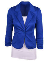 Womens New One Botton Blazer Suits Jacket Coat Formal Business OL Dresses Tops