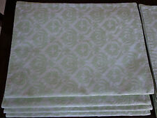 New listing Set of 8 Placemats 100% Cotton Damask Woven France