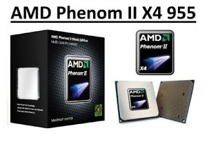 AMD Phenom II X4 955 Quad Core Processor 3.2 GHz, Socket AM2+/AM3, 95W CPU