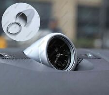 Silver Interior Trim Dashboard Clock Frame Cover for 2016-18 Maserati Levante