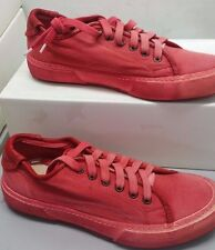 PANTOFOLA D'ORO SNEAKERS CANVAS TN36 ROSSO VIVO 38 RED SHOES UNISEX UOMO DONNA