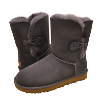 Women's Shoes UGG Bailey Button II Sheepskin Boots 1016226 Nightfall US SIZE 5