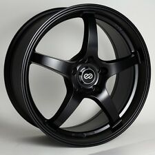 15x6.5 Enkei VR5 5x114.3 +38 Black Rims Fits Type R Talon Civic