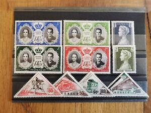 10 timbres MONACO ( LOT  111 )