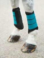 Shires Arma Air Motion Brushing Boots in Teal Colour, Horse Boots
