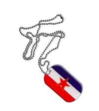 Dog Tag Fahne Flagge Jugoslawien alt Dogtag 3x5cm Kette mit Anhänger