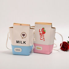 Harajuku Strawberry Milk Handbag Lolita Girls Cute Milk Crossbody Bag Womens