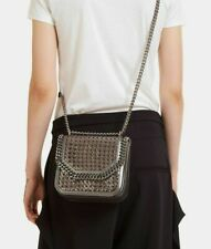 STELLA MCCARTNEY WICKER FALABELLA BOX MED BAG CROSSBODY TASCHE UMHÄNGETASCHE