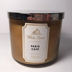 Bath & Body Works White Barn Paris Cafe 3 Wick Scented Candle 14.5 oz. New