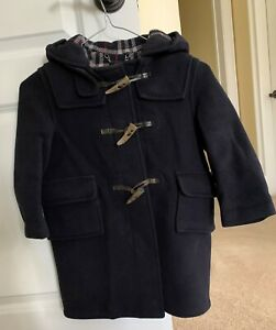 Burberry child Montgomery coat Age 4/5 (104 cm).100% wool.Navy blue.Some scuffs