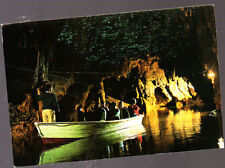 Vintage Postcard, New Zealand, Waitomo Caves, Glow worm Grotto, Stamped