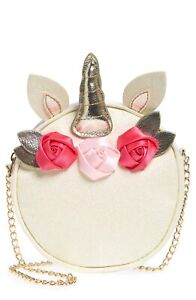 NWT CAPELLI OF NEW YORK Unicorn with Flowers Faux Leather Crossbody Bag Girls