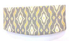 Window Valance Curtain Grey Yellow LINED Rod Pocket Custom Basket Weave NEW