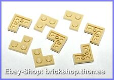 Lego 8 x Eckplatte Winkel (2 x 2) - 2420 beige - Tan Plate Corner - NEU / NEW