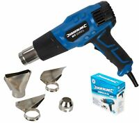 Silverline 2000w Hot Air Heat Gun With 4 Nozzles Paint Stripping Paint Varnish