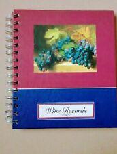 Robert Frederick Vintage Wine Making Record Book