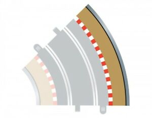 Scalextric Radius 2 45° Curve Track Tan Outer Borders - 4pcs C8228 OPEN