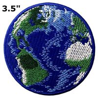 """#5108 3.5"""" World Planet Earth Embroidery Iron On Applique Patch"""
