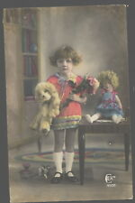 MB6206 LITTLE GIRL WITH HER TEDDYBEAR AND BIG DOLL VINTAGE TOYS