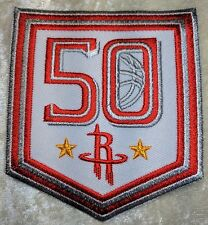 """Houston Rockets 50th Anniversary NBA 3"""" Iron On Embroidered Patch~US~FREE Ship"""