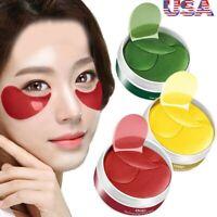 USA 120Pc Gold Hydrogel Eye Patch Firming Eye Mask Collagen Gel Under Eye Pads