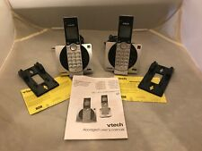 2 x Vtech Cs6919 Dect 6.0 Cordless Telephones Complete Caller Id Silver Expand