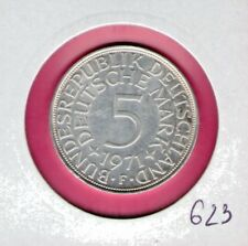 Germany  5 silver mark 1971 F *  11,20 g SILVER Silber nice quality