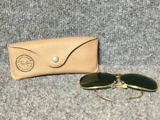 Decot ~ Ray Ban ~ Gold Frame ~ Green Lens~Shooting Glasses ~ Made In Usa