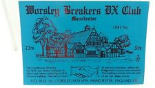 CB Radio Ham Qsl Card Worsley Breakers DX Club 1994 Postcard Manchester