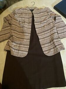 k studio collection 2 ps skirt suit brown size 12
