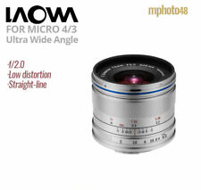 Laowa 7.5mm f/2 Lens Wide For Micro 4/3 Silver For Panasonic Lumix GH 1 2 3 4 5
