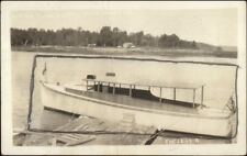 Cape Rosier ME Cancel Boat at Dock THE LUCY B Real Photo Postcard