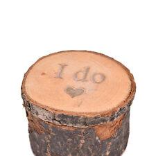 Wooden Printed I do Love Heart Shabby Chic Rustic Wedding Ring Bearer Box 6CM BH